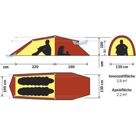 Hilleberg Nallo 2 GT Zelt rot